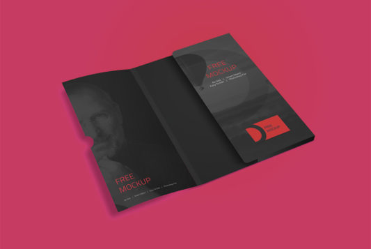 Corporate Folder Mockup Free PSD