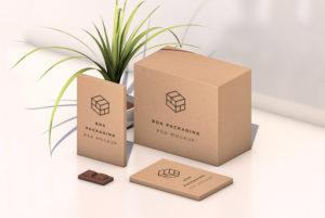 Isometric Box Packaging Mockup Free PSD
