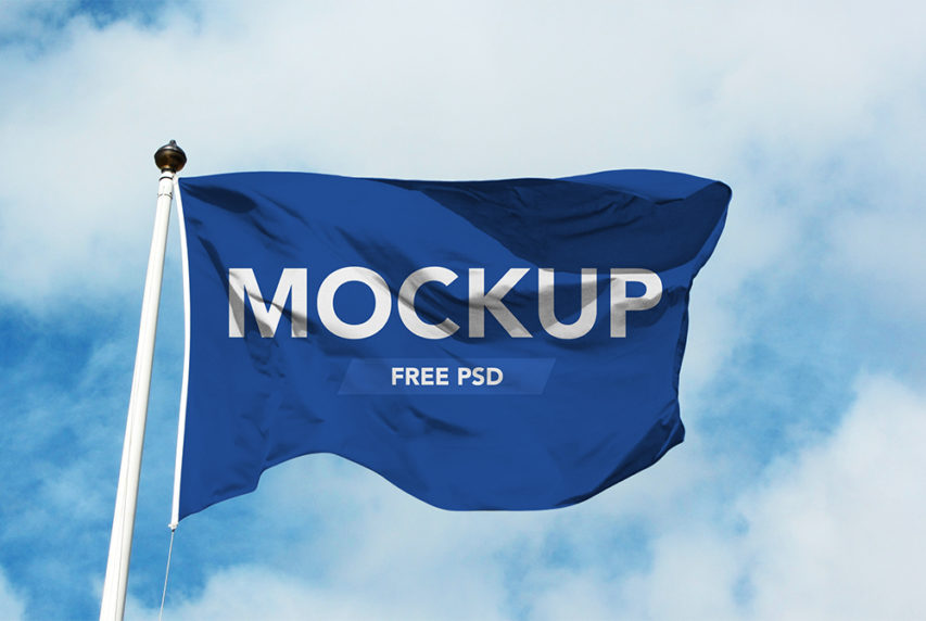Hope And Change In Football >> Realistic Flag Mockup Free PSD | Download Mockup