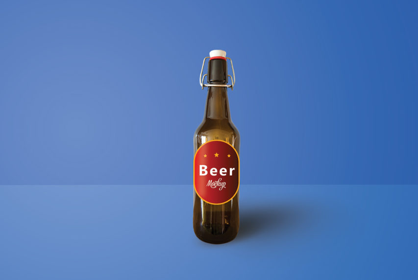 Beer Bottle Mockup PSD