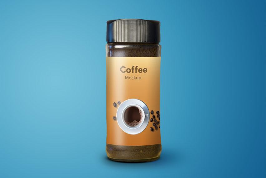 Coffee Jar Mockup Free PSD
