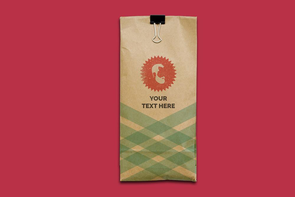kraft paper bag mockup free psd
