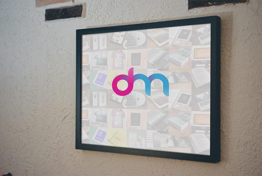 Square Frame Mockup Free PSD