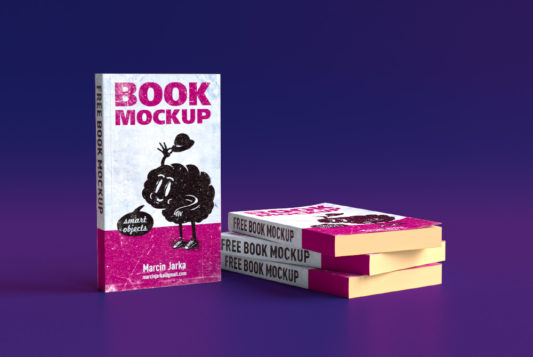 Softcover Book Mockup Free PSD