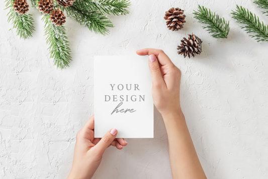 Christmas Card Mockup Free PSD