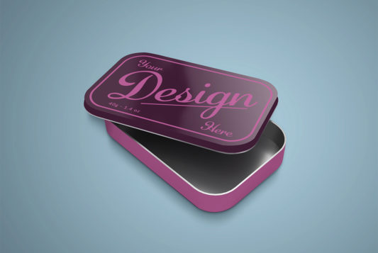 Tin Box Mockup PSD