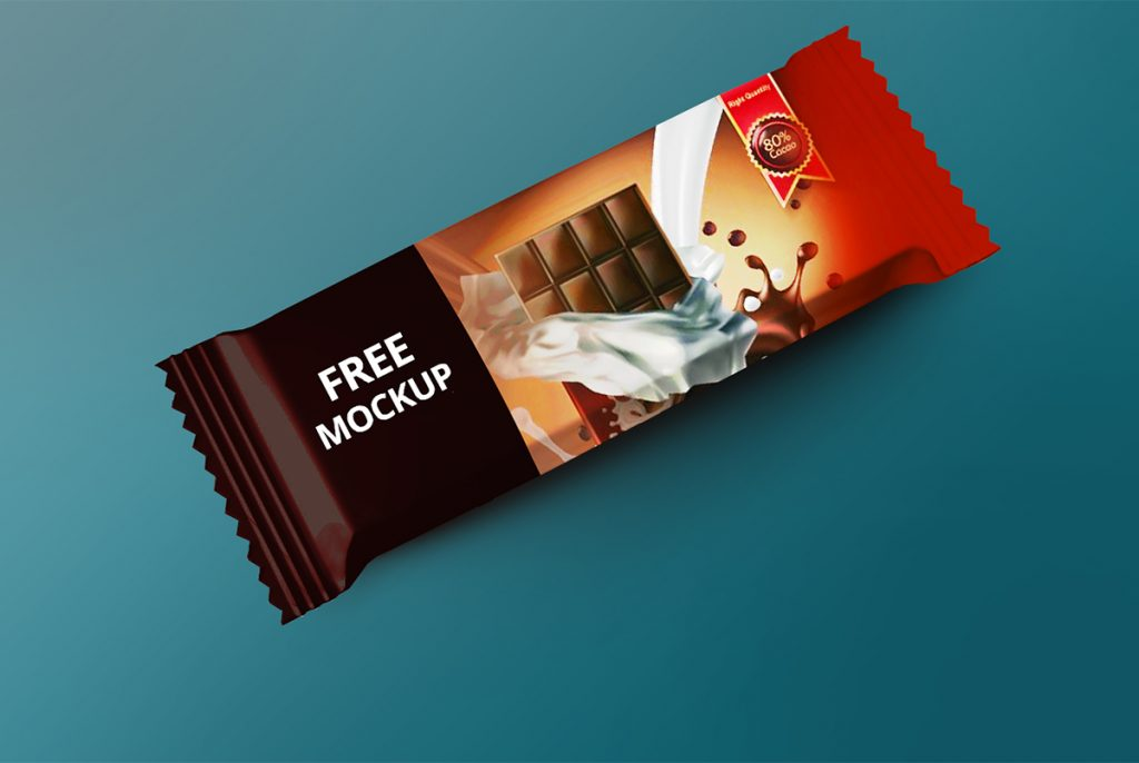 chocolate snack bar mockup psd