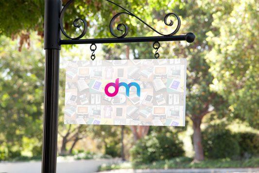 Hanging Signboard Mockup PSD