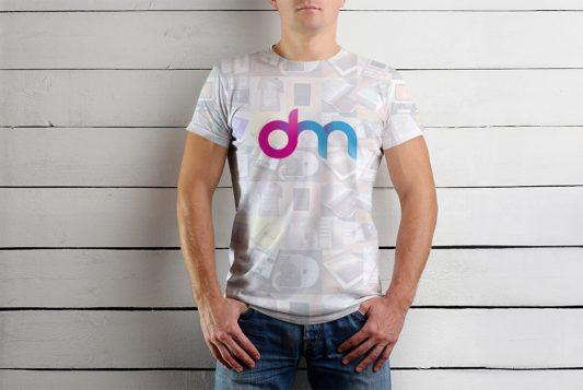 Male T-Shirt Mockup Template PSD