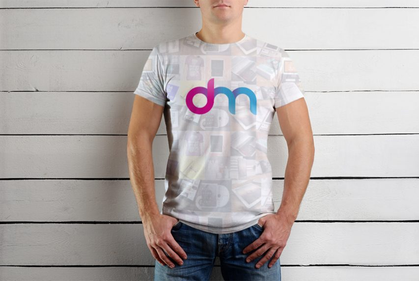 Male T-Shirt Mockup Template PSD