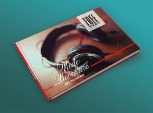 Photo Book Cover Mockup PSD