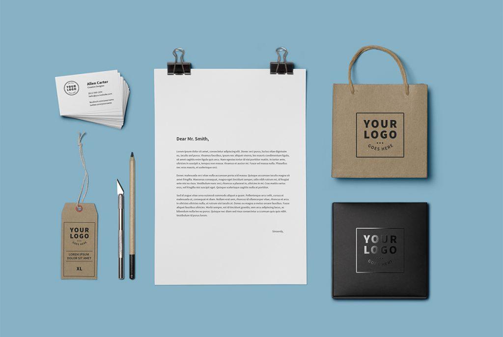 Branding Identity Mockup Template PSD