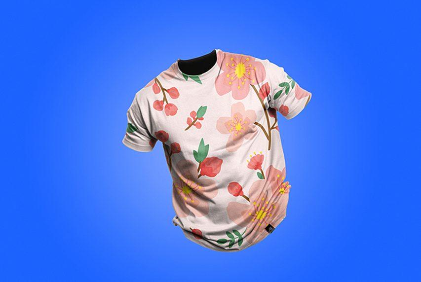 Мужская футболка макет PSD