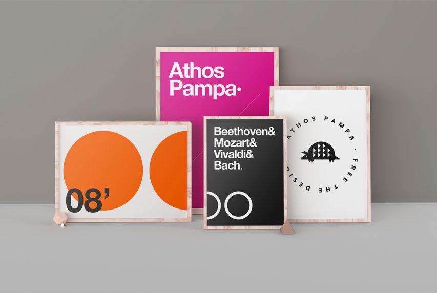 Poster Frames Mockup Template PSD