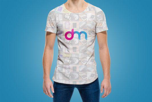 Round Neck T-Shirt Mockup PSD