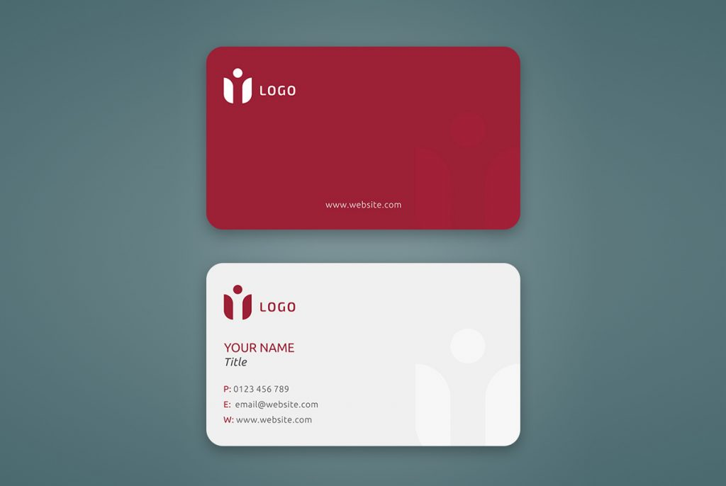 rounded corner business card mockup psd