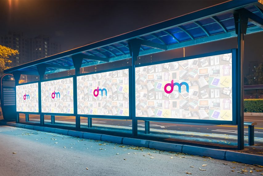 bus stop billboard mockup psd