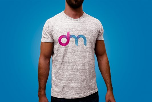 Cotton T-Shirt Mockup Template PSD