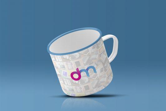 Enamel Mug Mockup Free PSD