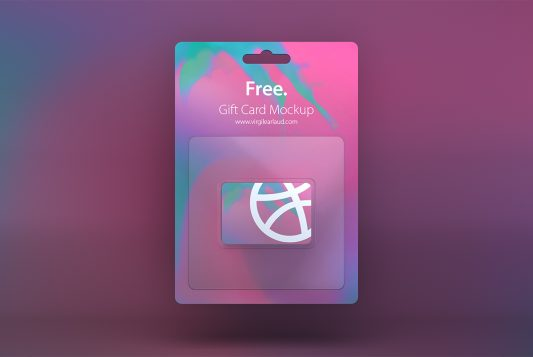 Gift Card Mockup Free PSD