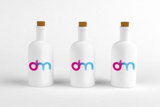 Cork Bottle Mockup PSD