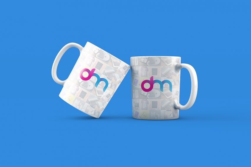 Coffee Mug Set Mockup