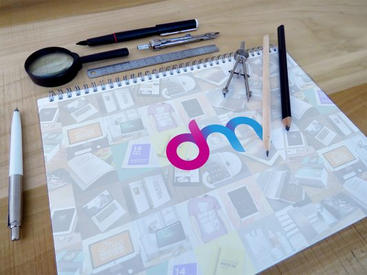 Sketchbook Mockup PSD
