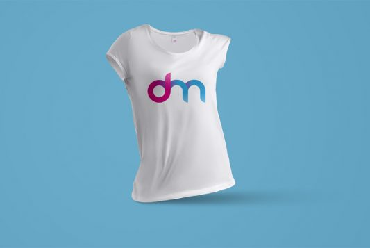 Women T-Shirt Mockup Template