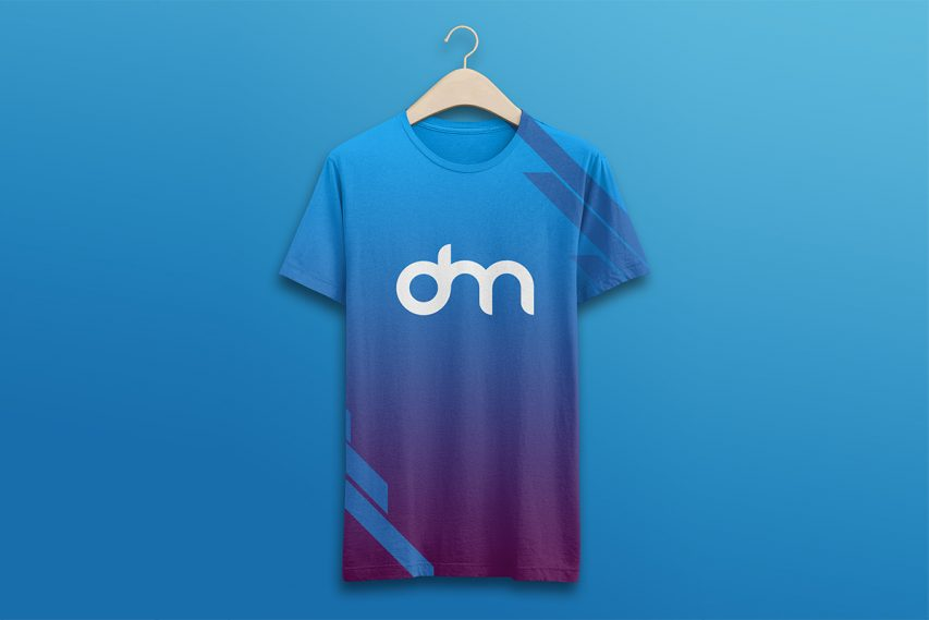 Hanging T-Shirt Mockup Template