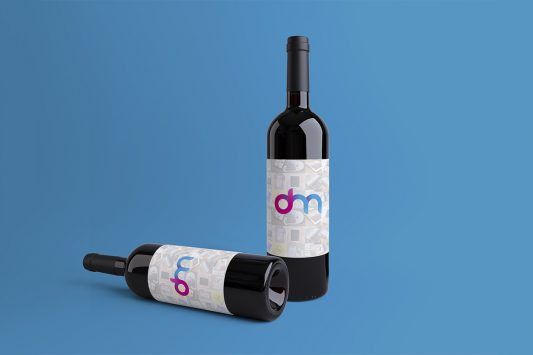Wine Bottles Mockup PSD