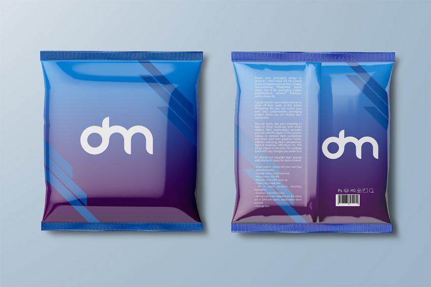 Foil Snack Packaging Mockup