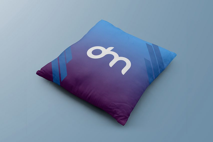 Square Pillow Mockup Template
