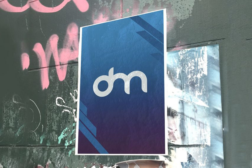 Street Wall Poster Mockup