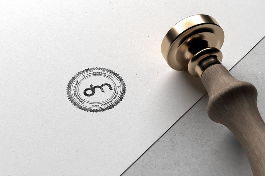 Free Rubber Stamp Mockup