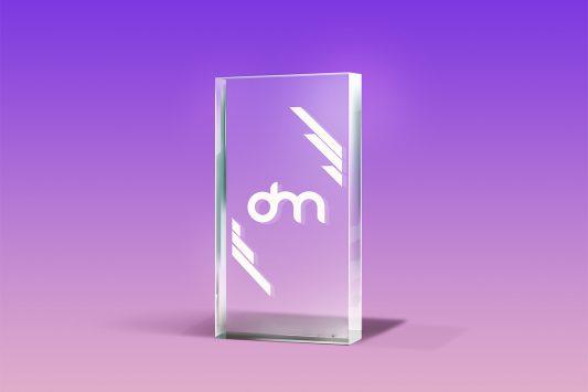 Glass Trophy Mockup PSD
