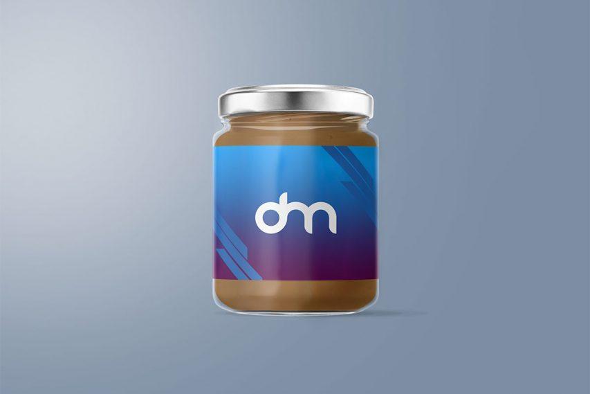 Peanut Butter Glass Jar Mockup