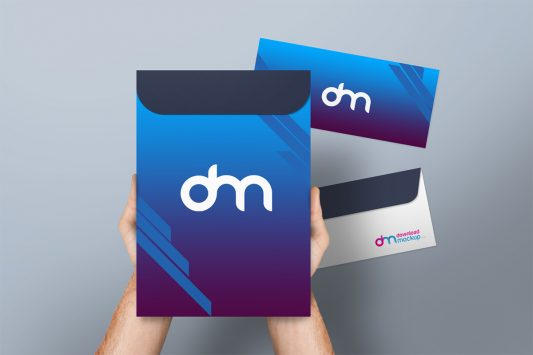 A4 Envelope Mockup PSD