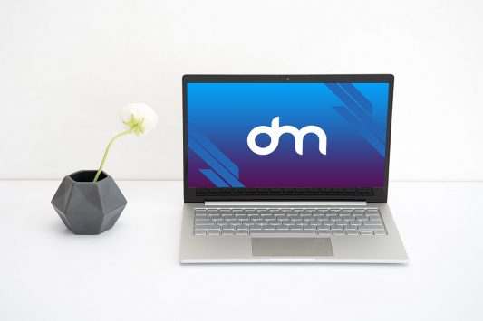 Clean Laptop Mockup PSD