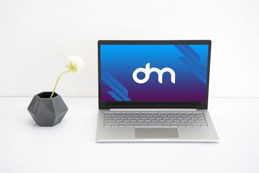 Clean Laptop Mockup PSD