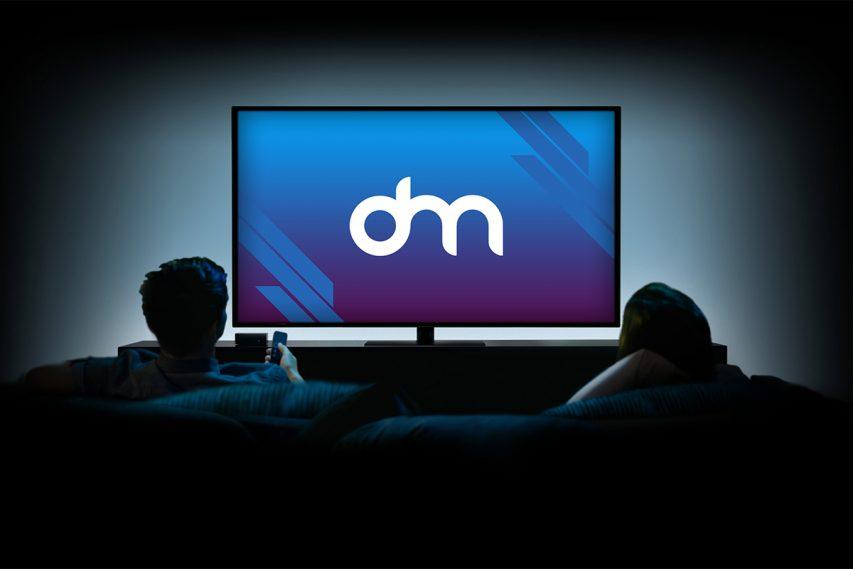 Watching TV Mockup PSD
