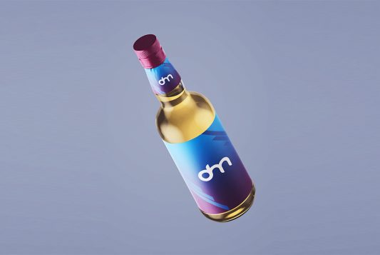 Free Liquor Bottle Branding Mockup