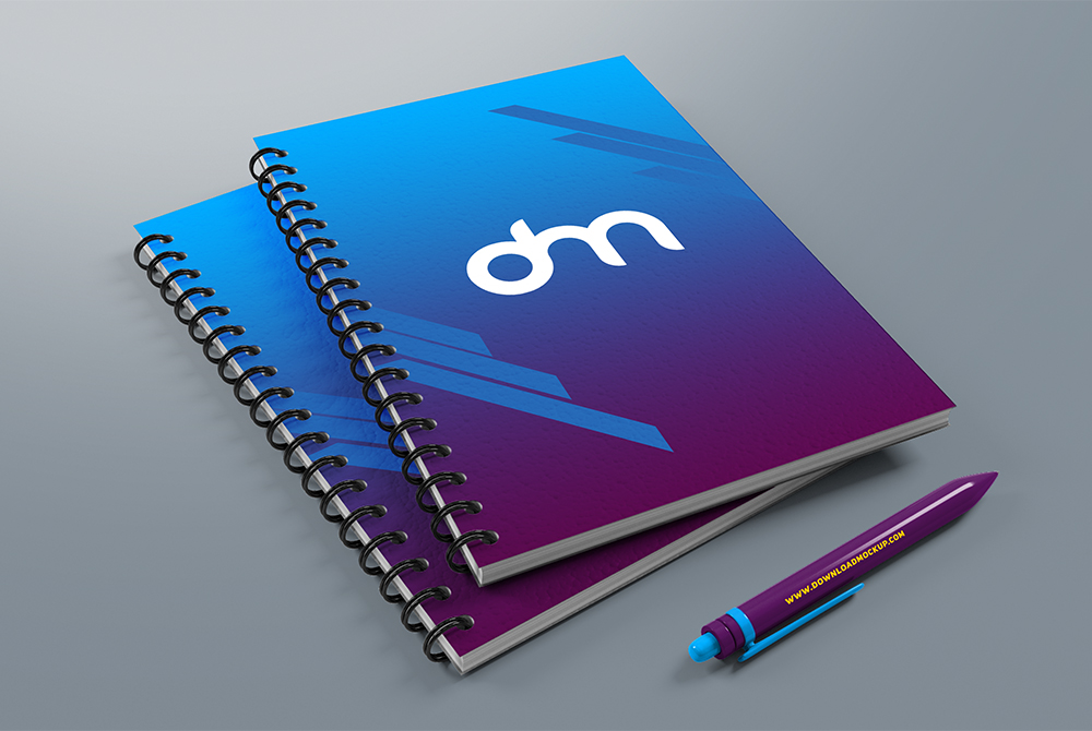 spiral notebook mockup template