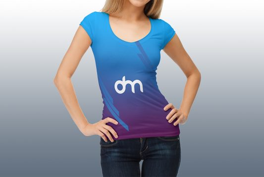 Woman T-Shirt PSD Mockup Template
