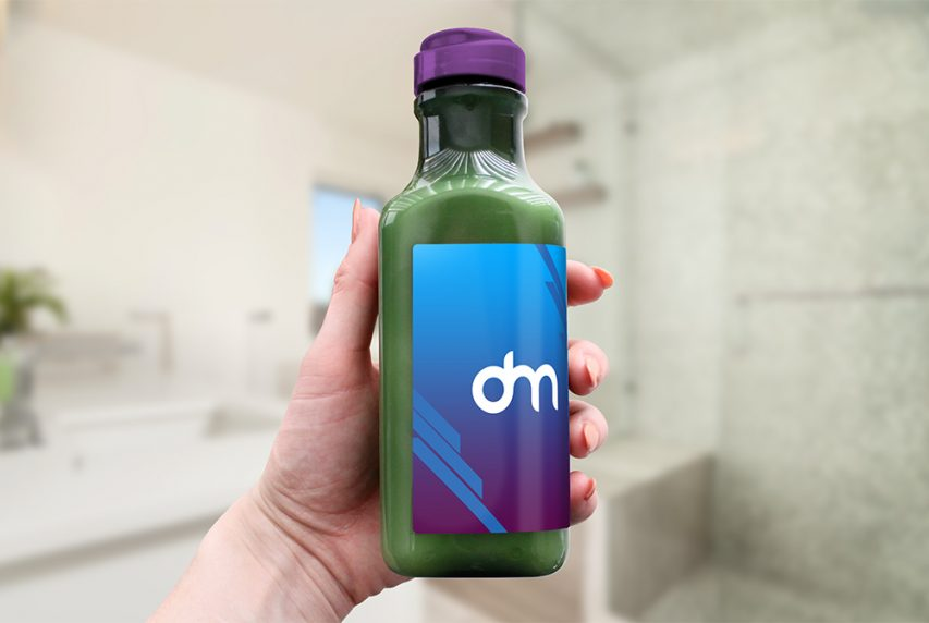 Organic Drink Bottle Mockup
