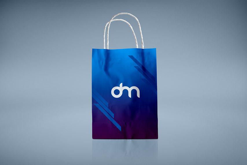Paper Shopping Bag Branding Mockup