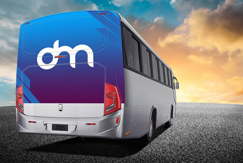 Bus Advertising Mockup PSD