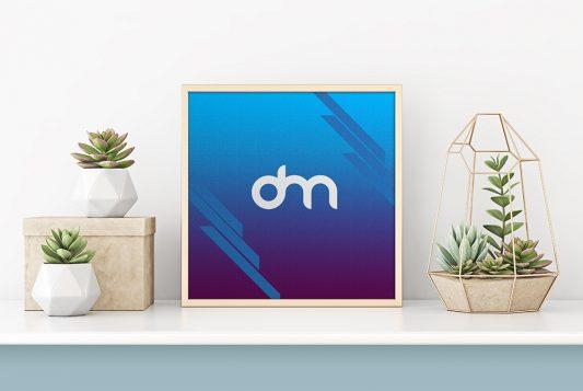 Square Poster Frame Mockup Template