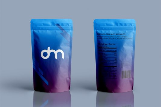 Foil Pouch Bag Packaging Mockup