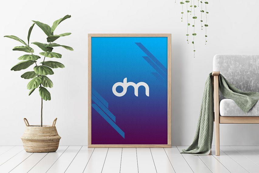 Minimalist Vertical Poster Frame Mockup