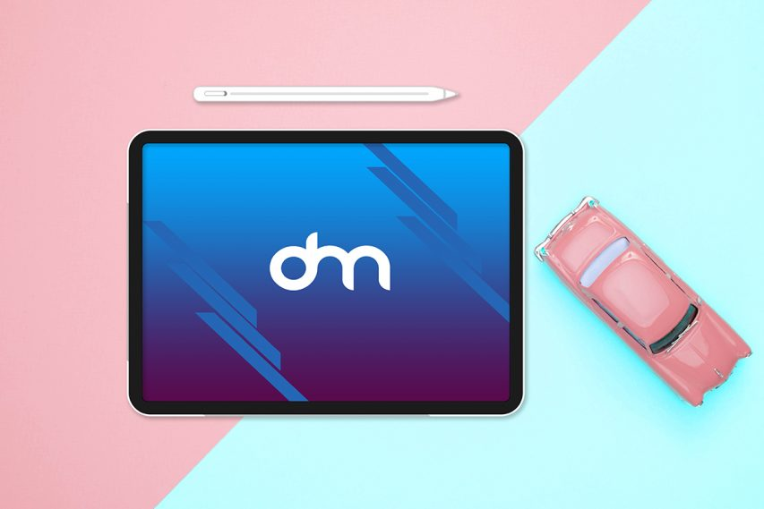 Flat Lay iPad Pro Mockup